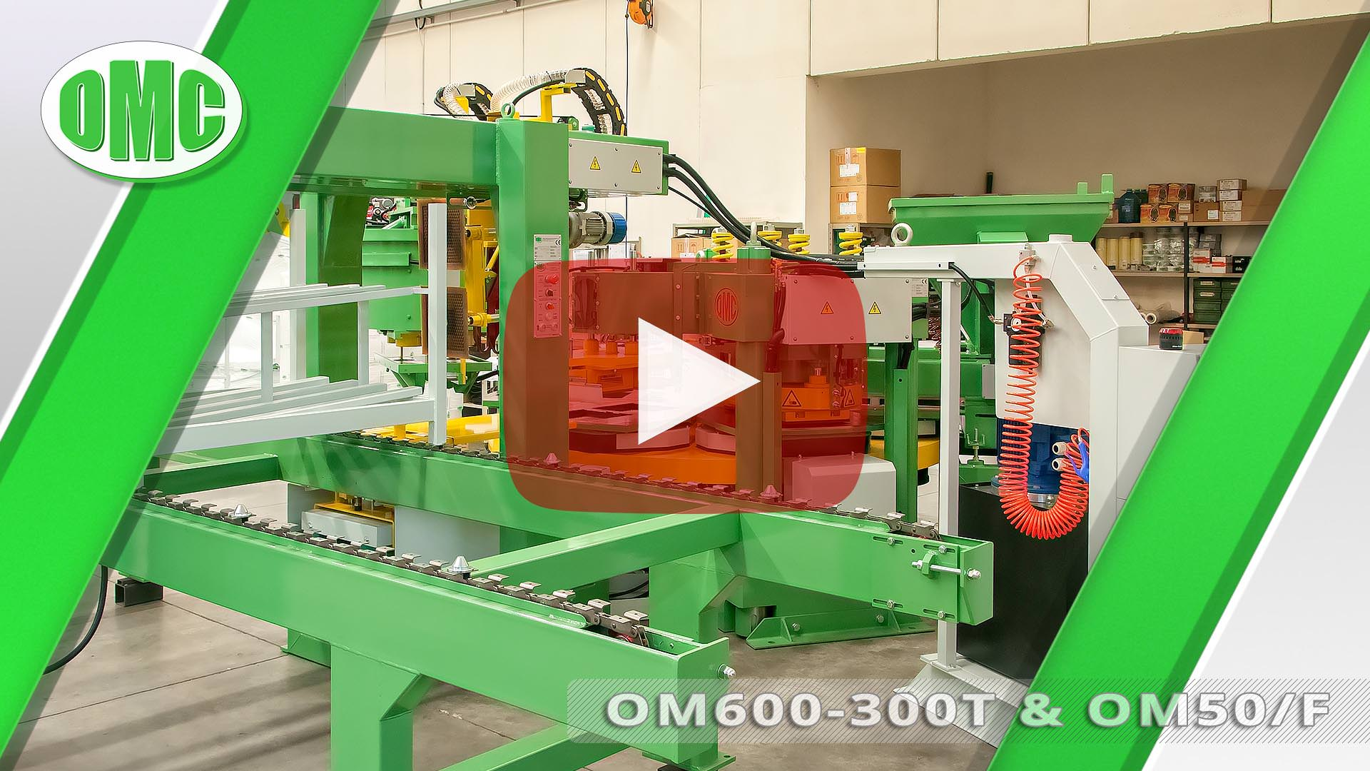 Pressa Rotativa Automatica Mod.OM600-300T con Mod. OM50/F (33x33x2)
