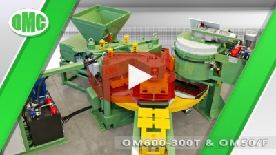 Automatic Rotational Press Mod. OM600-300T with Mod. OM50/F (25x25x4)
